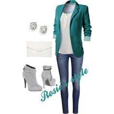 Smart casual. Love the colour of the blazer