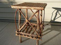 Rustic Twig Table by TooTooVintageMarket on Etsy, $195.00