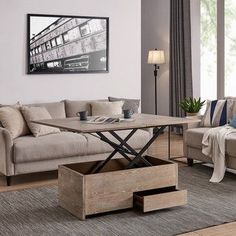 Carbon Loft Meadmore Convertible Storage Coffee Table to Dining Table, Brown – Food: Veggie tables Coffee Table Height, Coffee Table To Dining Table, Sofa End Tables, Coffee Table With Storage, Coffee Table Design, Dining Room, Coffee Tables, Wood Table, Room Kitchen