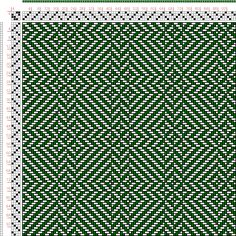 draft image: Figure 403, A Handbook of Weaves by G. H. Oelsner, 4S, 4T