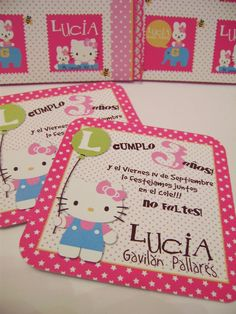 Invitaciones personalizadas - Hello Kitty