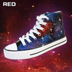 #Galaxy Shoes Custom Hand Painted High Top #Shoes,Galaxy hand painted shoes,Hand #Painted #Canvas Shoes