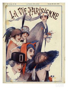 La Vie Parisienne, Magazine Cover, France, 1915 Print at Art.com