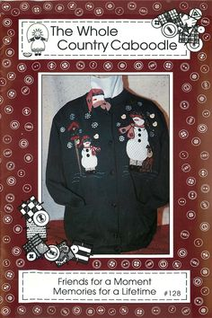 Appliqued Snowmen, a Pattern by The Whole Country Caboodle by CarlasHope on Etsy
