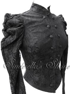 Could be used as top of dress, waistcoat, or top, mixed or dated era, dress coat or uniform depending on world, remove puffs and jet out for men, flare bottom or add ruffle depending on setting