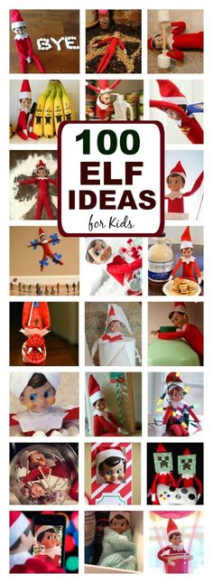 Elf Ideas for Kids GENIUS ELF ON THE SHELF IDEAS FOR KIDS- so many ideas I'd never seen!<br> Are you looking for fun things to do with those silly elves this year? Here are over 100 adorable ideas that kids of all ages are sure to love! Noel Christmas, Christmas Elf, All Things Christmas, Christmas Crafts, Christmas Decorations, Christmas Ideas For Kids, Kids Christmas Activities, Christmas Music, Funny Christmas