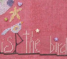 This is the second pattern in the series titled the Flock. The price does include the embellishment pack.