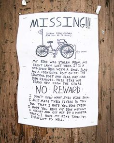 """No comments on this """"bike-rage""""... At some time, I felt the same and deeply hurt when my great bike was stolen."""