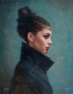 "Un Vide Dans Un Catalyseur — Digital Artist: Tom Bagshaw ""Vita Nova"" . Fantasy Women, Dark Fantasy, Fantasy Characters, Female Characters, Gothic Characters, Character Portraits, Character Art, Art Beat, Female Character Inspiration"