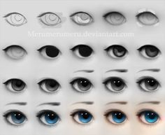 Step by step: Eyes (dollfie) by ~Merumerumeru