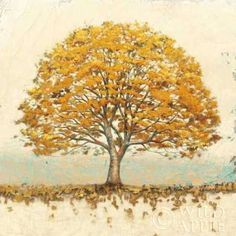 James Wiens Solid-Faced Canvas Print Wall Art Print entitled Golden Oak, None Canvas Art Prints, Framed Art Prints, Canvas Wall Art, Fine Art Prints, Painting Frames, Painting Prints, Paintings, Golden Oak, Mellow Yellow