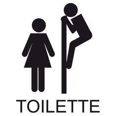 Sticker WC Signalétique toilette | Fanastick.com