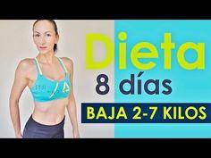Dieta para 8 Días! Pierde de 2-7 kilos en 8 días / Menú Completo - YouTube