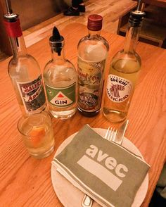 Yep that's our Standard Dry Gin at @avecchicago! A big thank you to the Avec team for being the first Chicago restaurant to pour our spirits. : @katcarlton #distillery