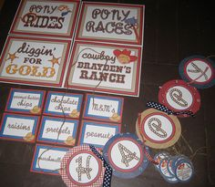 cowboy party game signs