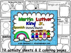 Kinder Latino: Bilingual Teaching Resources: Martin Luther King Printables
