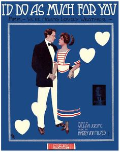 Vintage Song Poster - I'd Do As Much For You