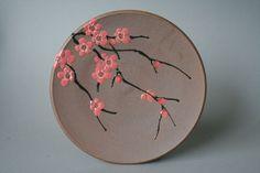 Pink Plum Plate by Jeannine Calcagno Niehaus