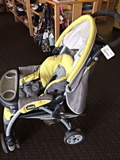 Chicco KeyFit Stroller - Chicco KeyFit Stroller is in perfect condition!  It's grey and yellow so very neutral for any child.  Click on the link below to browse more great items at LilyPads! - $90.00