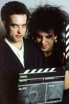 """sleeping-like-a-marble-girl: """" From fb, Robert & Simon - The Cure (this is probably another Tom Sheehan photo) """" The Cure Band, Gothic Bands, Chain Of Flowers, Robert Smith The Cure, Alternative Rock Bands, I Robert, Beautiful Lyrics, Gothabilly, Cinema"""