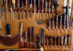 My devotion for old tools will never end..#leathertools #vintagetools…