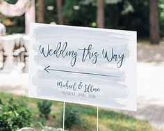 Personalized Directional Sign (18x12) - Nautical Wedding | The Aspen Shops