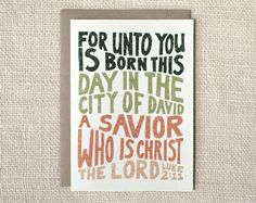 Luke 2:11 holiday card | Wit & Whistle