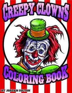 Many have the phobia of clowns, and that fear is now in the form of a coloring book, which can either cause nightmares or perhaps bring some solace to your sub conscious. With over 100 pages of colori
