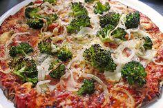Low Carb Rezepte: Low Carb Pizza aus Frischkäseteig