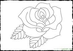 Beautiful Rose Coloring Pages   Beautiful Rose Coloring Pages on Vase - Coloring Pages