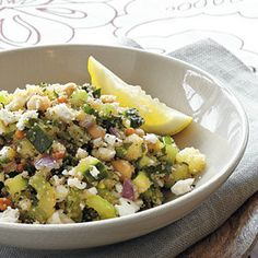 Tabbouleh-Style Amaranth Salad - a filling tabbouleh salad with amaranth instead of bulgur wheat.
