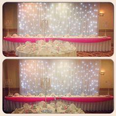 #nicheevents #hiltonhotel #swindon #weddingideas #weddingplanner #weddinginspiration #starlightbackdrop #candelbras #instalike #like4like #instabride #instawedding #hotpink #wedding