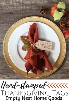 Hand stamped Thanksgiving tags, napkin tags, So Very Thankful for You tags, Thanksgiving place setti Thanksgiving Games, Thanksgiving Table Settings, Thanksgiving Centerpieces, Outdoor Thanksgiving, Silverware Place Setting, Handmade Decorations, Christmas Decorations, Fall Leaf Garland, Rustic Halloween