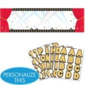 Hollywood Personalized Giant Sign Banner - Party City