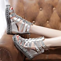 Pin these shoes Shoespie Metal Chain Studded Wedge Sandals #Fashion, #Shoepie, #Womens http://www.fashion4shoes.com.au/shop/shoepie/shoespie-metal-chain-studded-wedge-sandals/