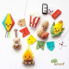 Kids Crafts, Easy Diy Crafts, Baby Crafts, Felt Crafts, Crafts To Make, Arts And Crafts, Felt Diy, Handmade Felt, Sewing For Kids