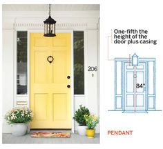 guide on measurements for proper placement of a pendant entry light, all about entry lights