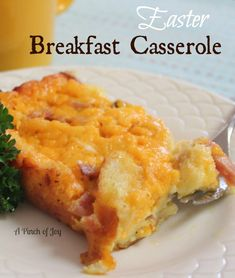 Easter Breakfast Casserole...This is the casserole I made for Sarah and her friends. it is really good. I recommend using less butter, though. I also used 4 cheese mexican blend instead of cheddar.