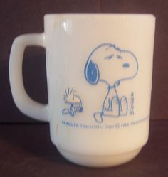 So Collectible Fire King Snoopy Coffee Mug