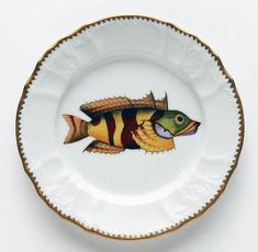 Antique Fish 7.5 In Salad Plate No. 3 | Gracious Style