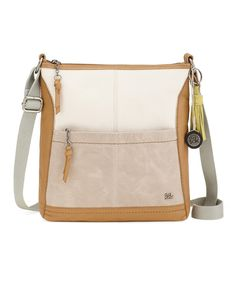 Look at this The Sak Seafoam & Brown Iris Leather Crossbody Bag on #zulily today!