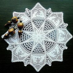 Check out our home décor selection for the very best in unique or custom, handmade pieces from our shops. Nativity Star, Christmas Nativity, Christmas Star, White Christmas, Crochet Motif, Crochet Doilies, Crochet Lace, Doily Patterns, Crochet Patterns