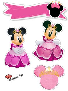 Mickey Mouse Birthday, Minnie Mouse, Paper Flowers, Biscuit, Cake Toppers, Scrap, Comic, Lettering, Disney Characters