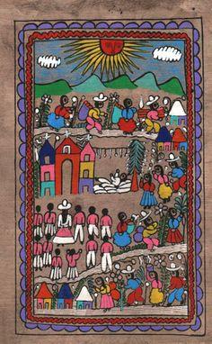 Nativity Amate Painting