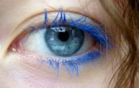 electric blue mascara...lol! I can remember wearing this in the early 90's when I was around 20ish....guess I was out of style if it was an 80's thing...haha...always a tad behind....