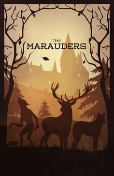 Great Harry Potter poster.  The Marauders.  By Sevillaseas via Society6