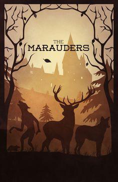 Great Harry Potter poster.  The Marauders.  By Sevillaseas via Society6