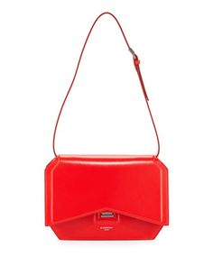 Bow-Cut+Leather+Shoulder+Bag,+Red+by+Givenchy+at+Neiman+Marcus.