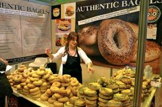Bagel stall. Whoa - that's a shitload of bagels!