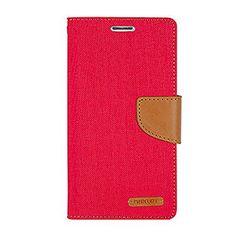 iPhone 5/5S ケース Mercury Goospery Canvas Diary Case アイフォン 5/5S 手帳型 ケース レッドキャメル(Red/Camel) / 携帯 スマホ スマートフォン モバイル ダイアリー ケース カバー カード 収納 ポケット スロット スタンド
